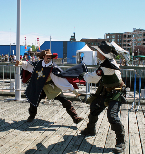 Swashbucklers at Quebec City's New France Festival (Photo by Melanie Votaw)
